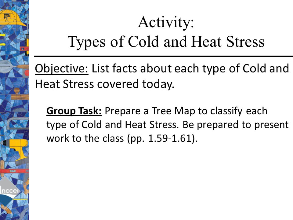 Activity: Types of Cold and Heat Stress