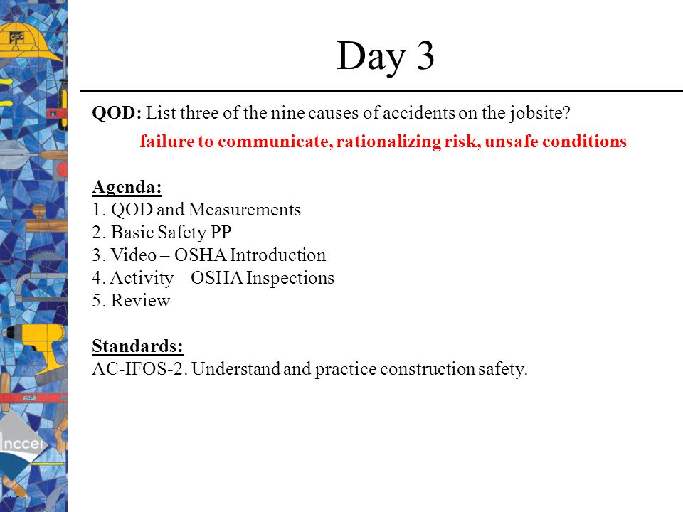 failure to communicate, rationalizing risk, unsafe conditions
