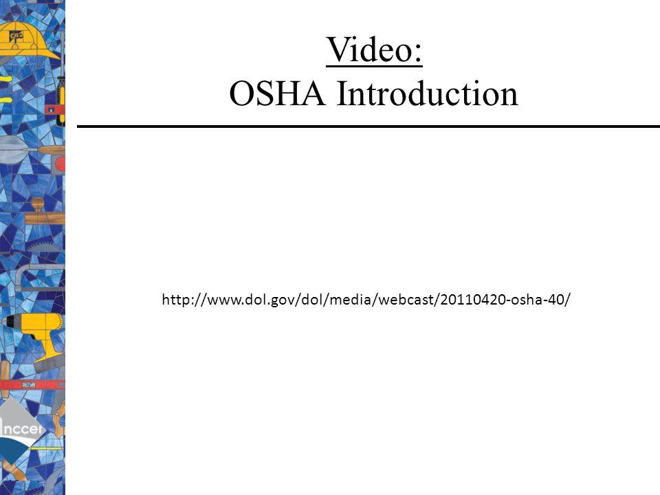 Video: OSHA Introduction