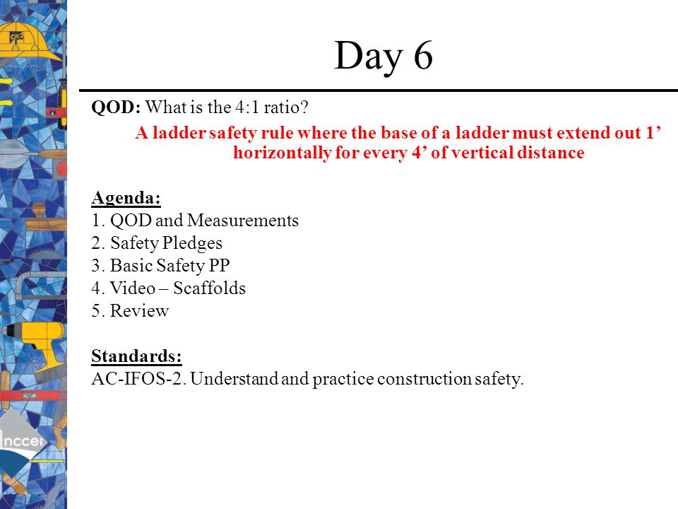 Day 6 QOD: What is the 4:1 ratio