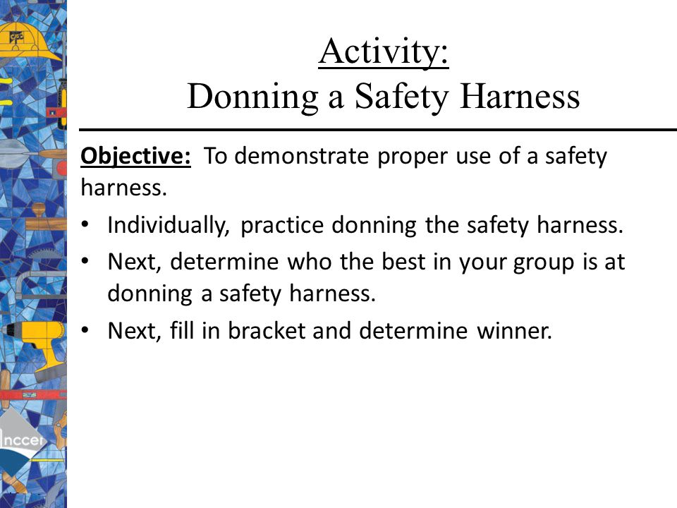 Activity: Donning a Safety Harness