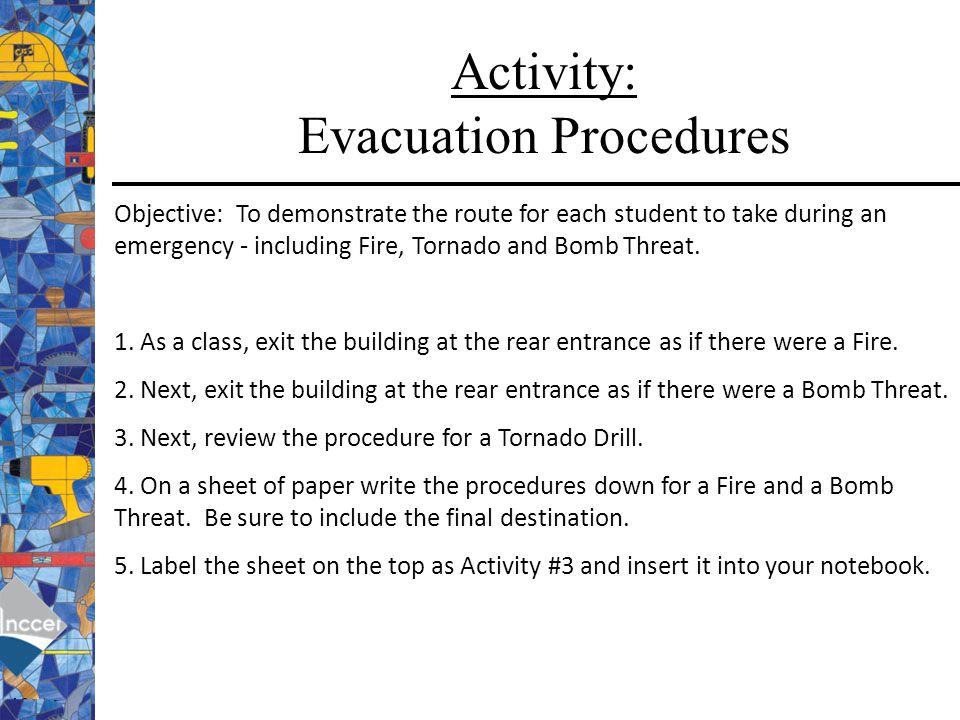 Activity: Evacuation Procedures
