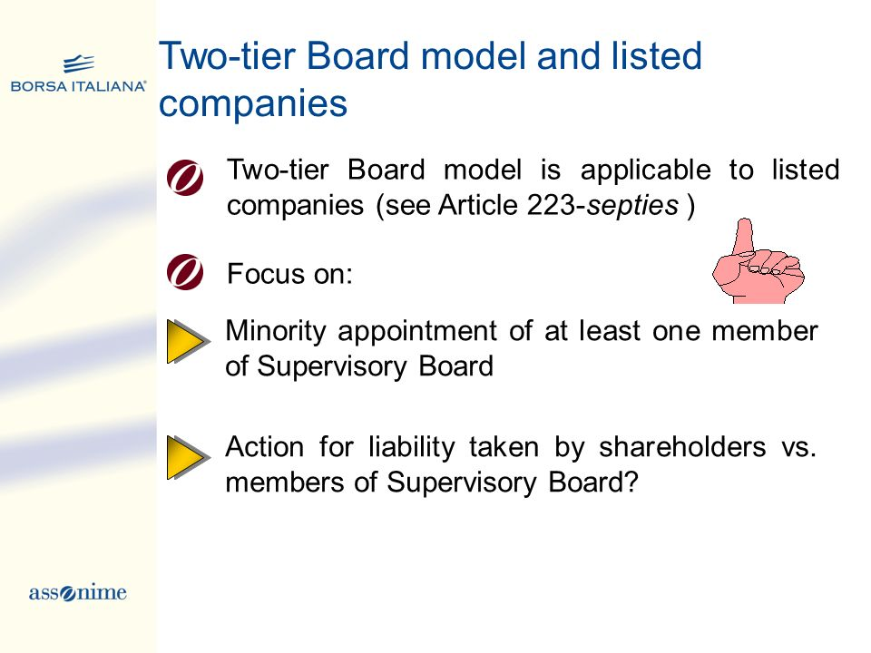 Two-tier Board model and listed companies
