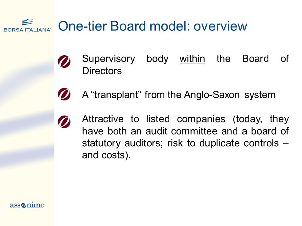 One-tier Board model: overview