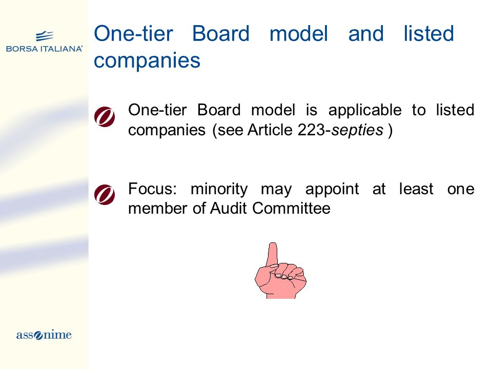 One-tier Board model and listed companies