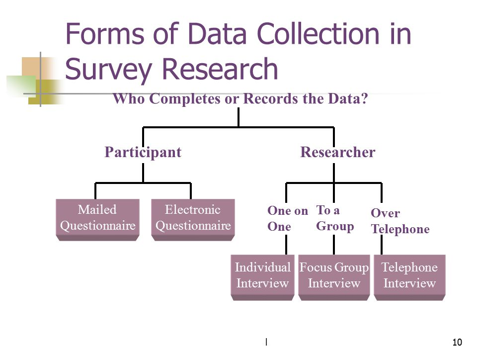 Forms of Data Collection in Survey Research