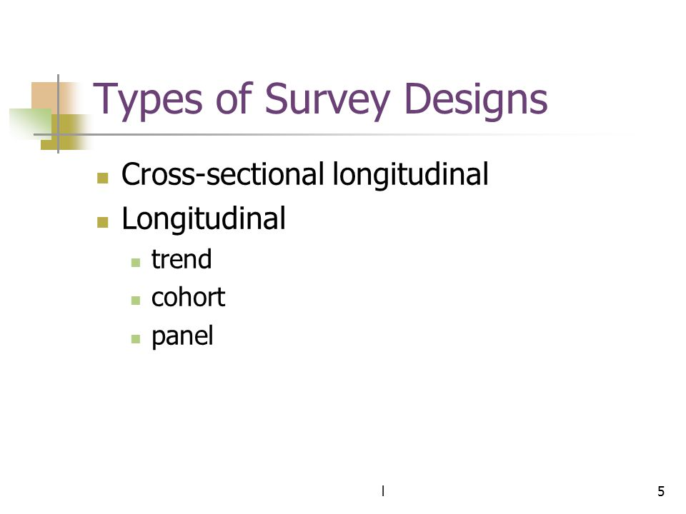 Types of Survey Designs