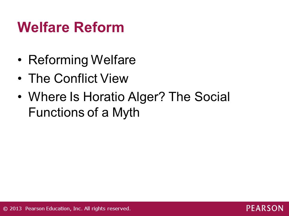 the welfare reforms in the united states Evaluation of four tax reforms in the united states: labor supply and welfare effects for single mothers .