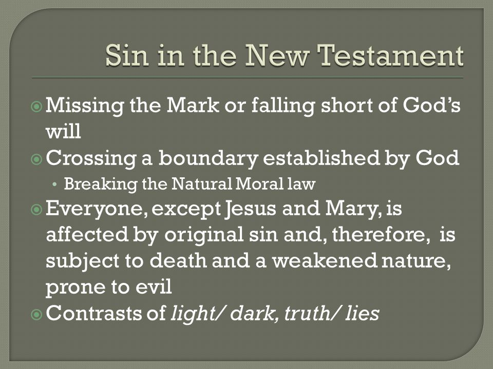 the first sin of man and its effects What are the consequences of sin if i sin,  this is the foremost consequence of man's rebellion  should follow the example of the first converts of the .