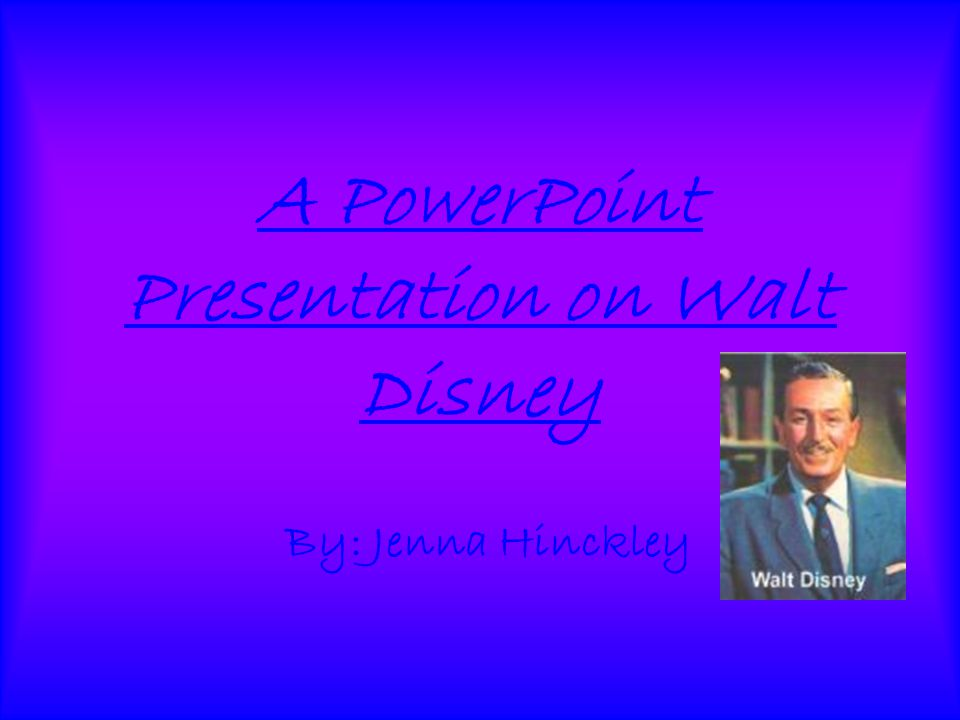 walt disney ppt Disney has enormous influence on the cultural life of the nation, especially walt disney world's animal kingdom disney online the future financial condition.