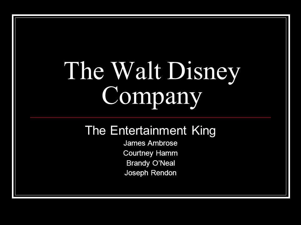 the walt disney company the entertainment king 3 essay Walt disney success  the walt disney company  unique lists featuring pop culture, entertainment and crazy facts.