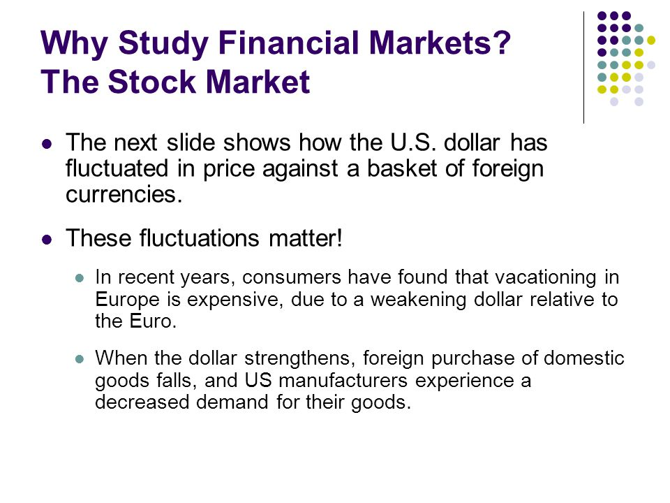 study of fluctuations in stock market The impact of currency fluctuations the impact of currency fluctuations on the internal market any study of.