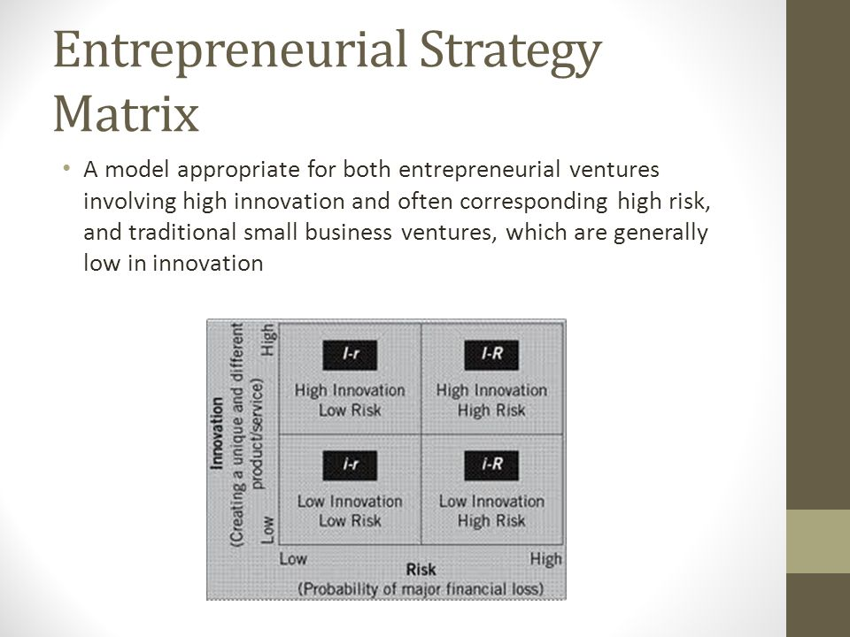 strategic issues in entrepreneurial venture and small business Entrepreneurial venture vs small business firms discuss strategic issues issues in environmental scanning and strategy formulation environmental.