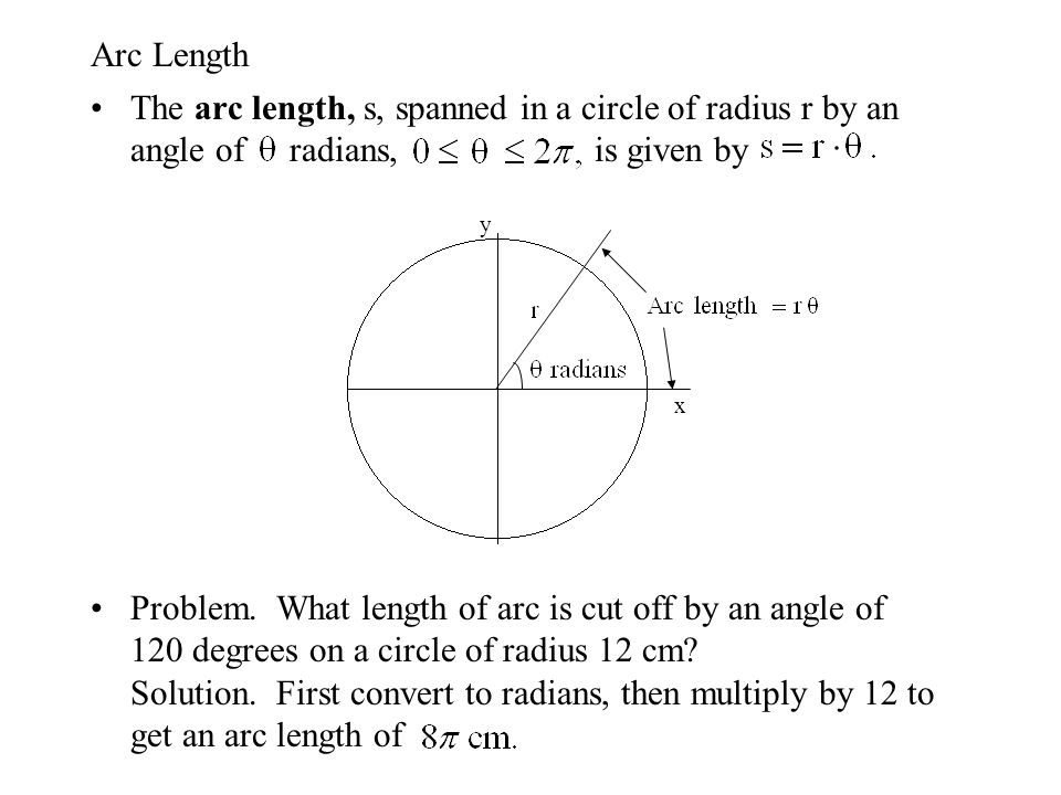 how to find radius given arc length