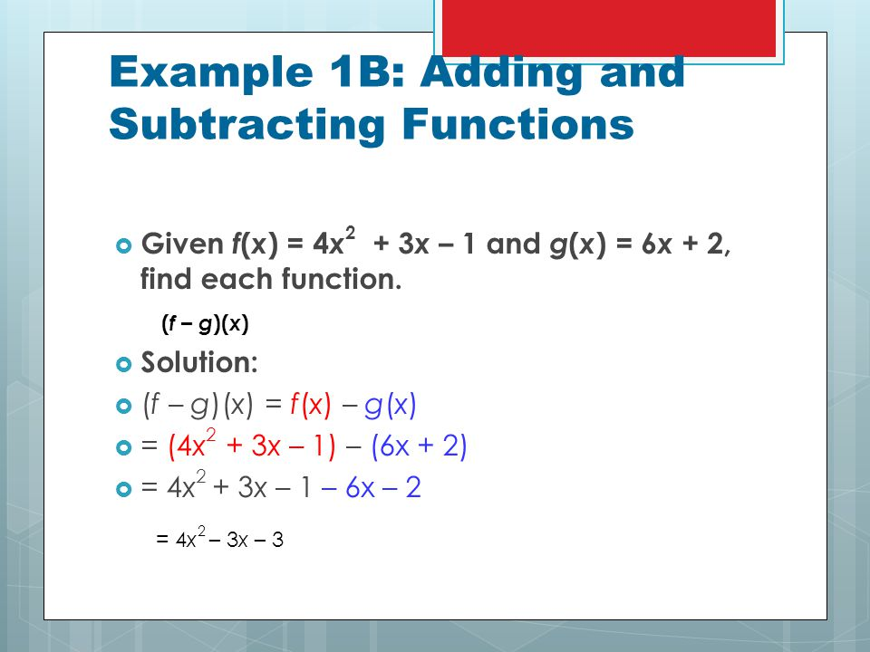 6-5 operations with functions - ppt download