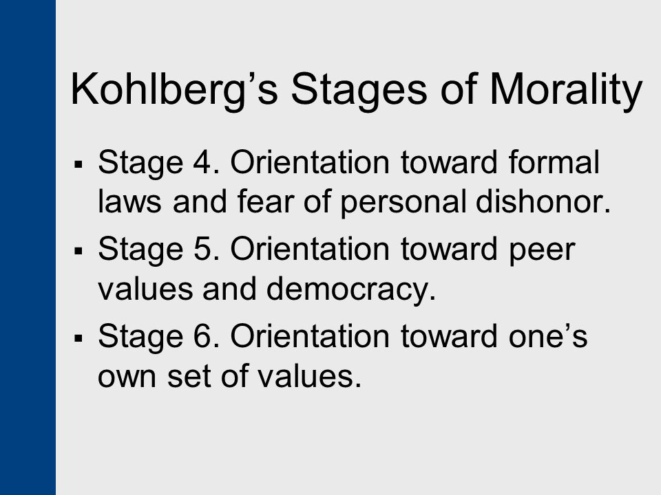 an analysis of the stages of personal orientation