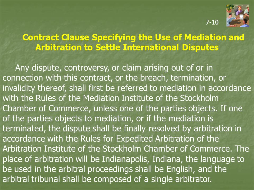 the use of the alternative dispute resolution method in international commerce Module title: international commercial dispute resolution  resolution methods in international commerce  international commercial dispute resolution is.