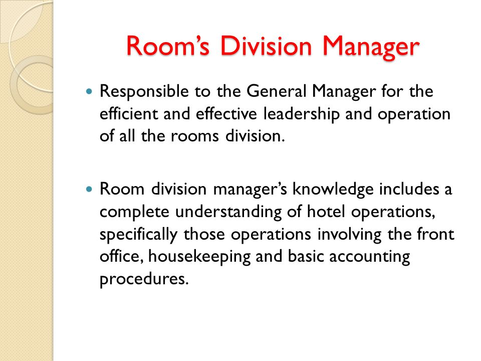 Room Division Operations Management