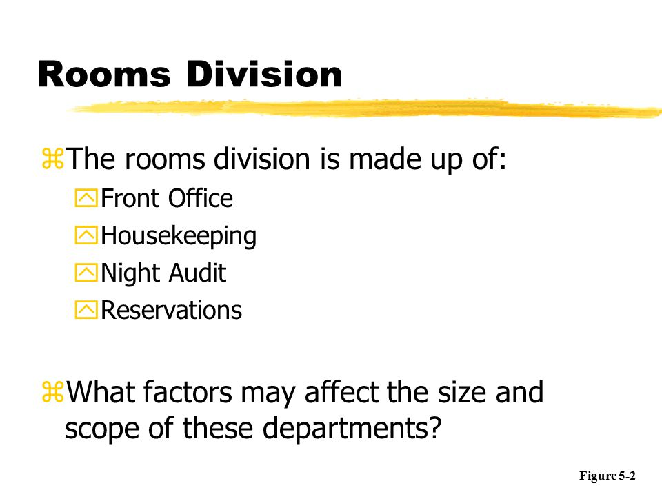 front office rooms division essay Front office review employs the largest staff in the rooms division the front desk finds room 207 listed as vacant and ready for sale and realizes that the.