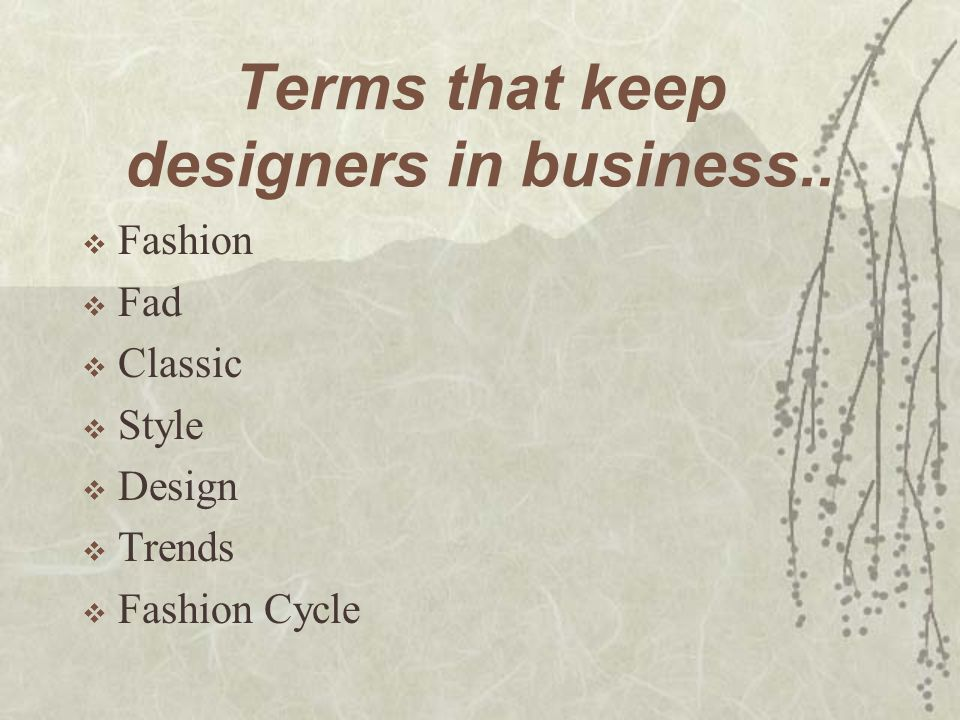 Fundamentals Of Fashion Ppt Download