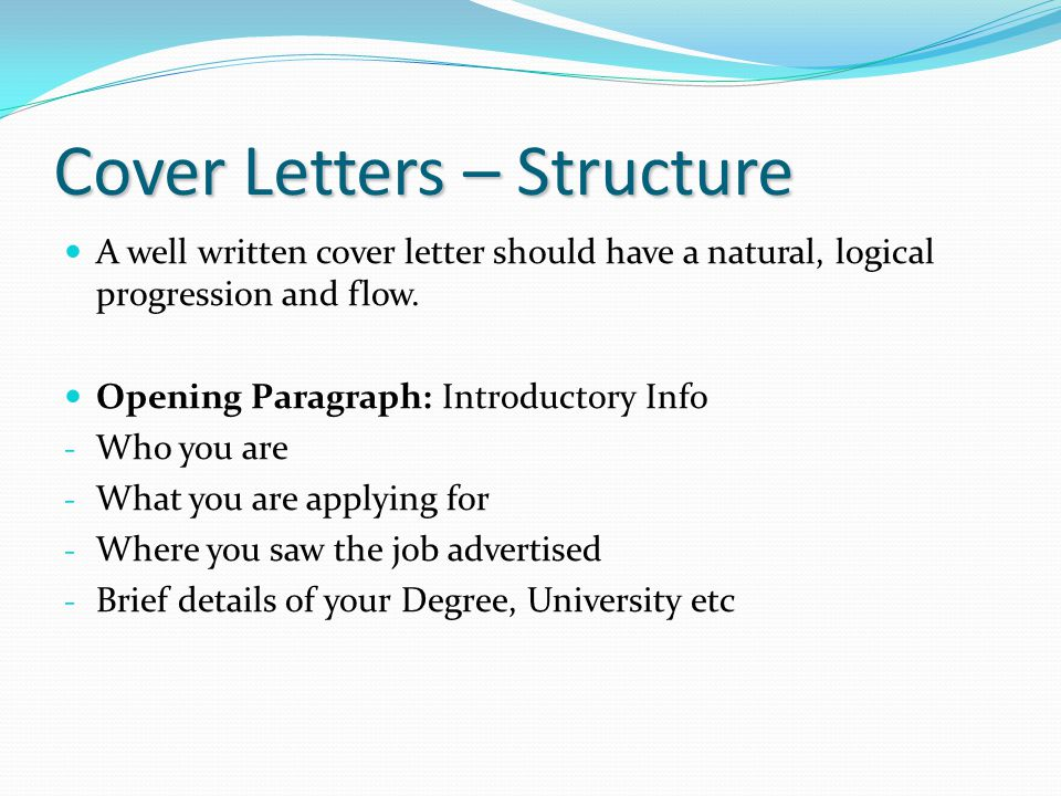 well written cover letters for job applications - preparing for summer work ppt download