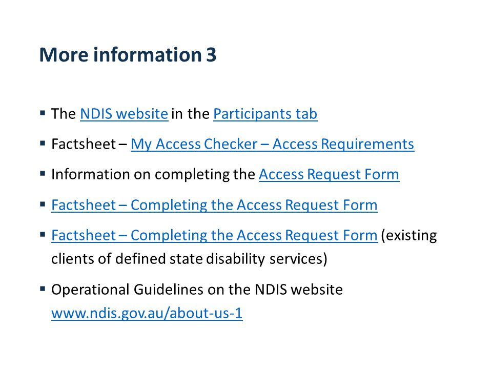 Act Ndis Awareness Package  Ppt Download