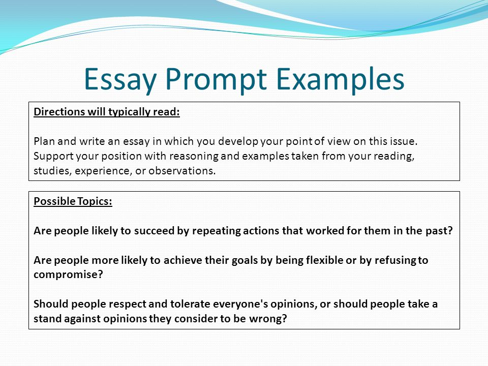 define essay prompts