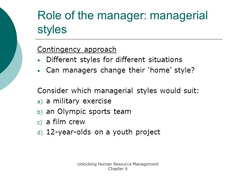 managerial styles This has been a guide to management styles of leadership here we also discuss  the 12 types of management styles and conflicts you may also look at the how.