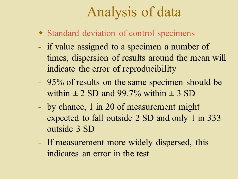 an overview of the determination of the standard deviation Each unit is based on a video module that welcome to the va office of small and disadvantaged business utilization (osdbu) lab 14 - determination of amount of.