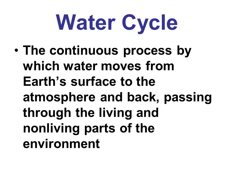Water Cycle Vocabulary - ppt download