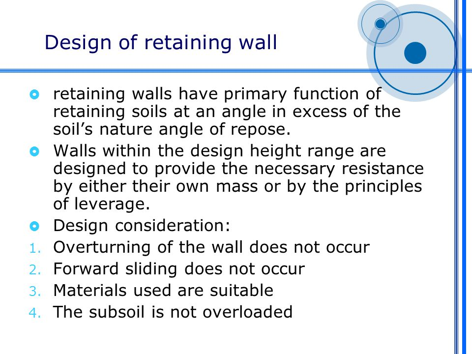 Retaining Walls. - Ppt Video Online Download