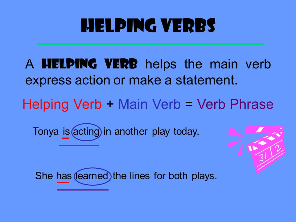Helping Verbs - word lists, activities, worksheets, and more ...