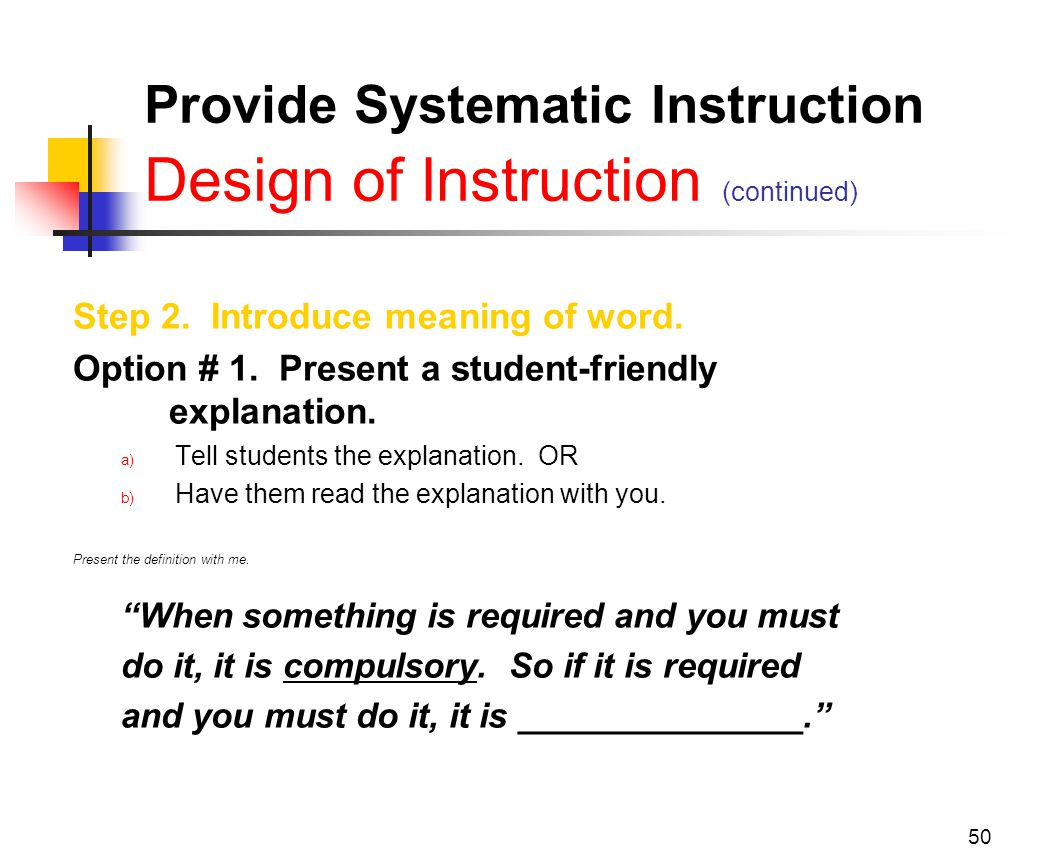 the definition of instruction