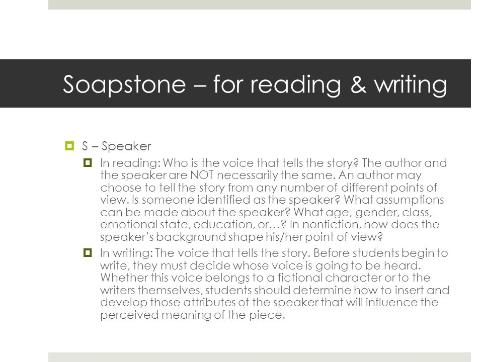 Soapstone – for reading & writing