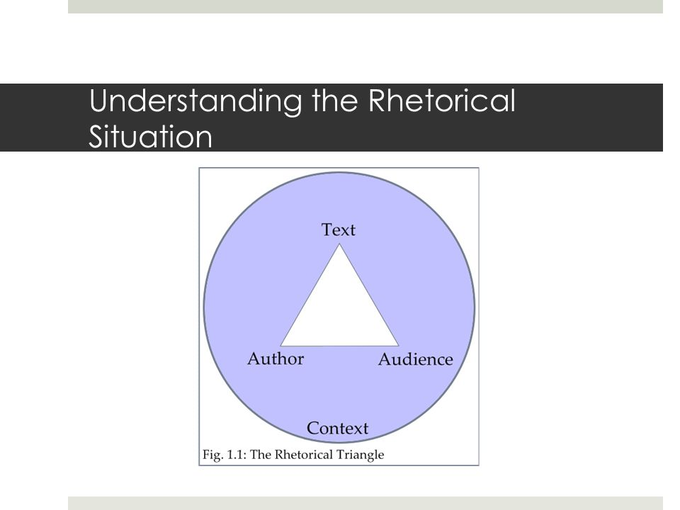 assignment 1 rhetorical situation This presentation is suitable for the beginning of a composition course or the assignment of a writing project in any class the preceding examples serve to illustrate some of the range of circumstances in which rhetorical situations can be found.