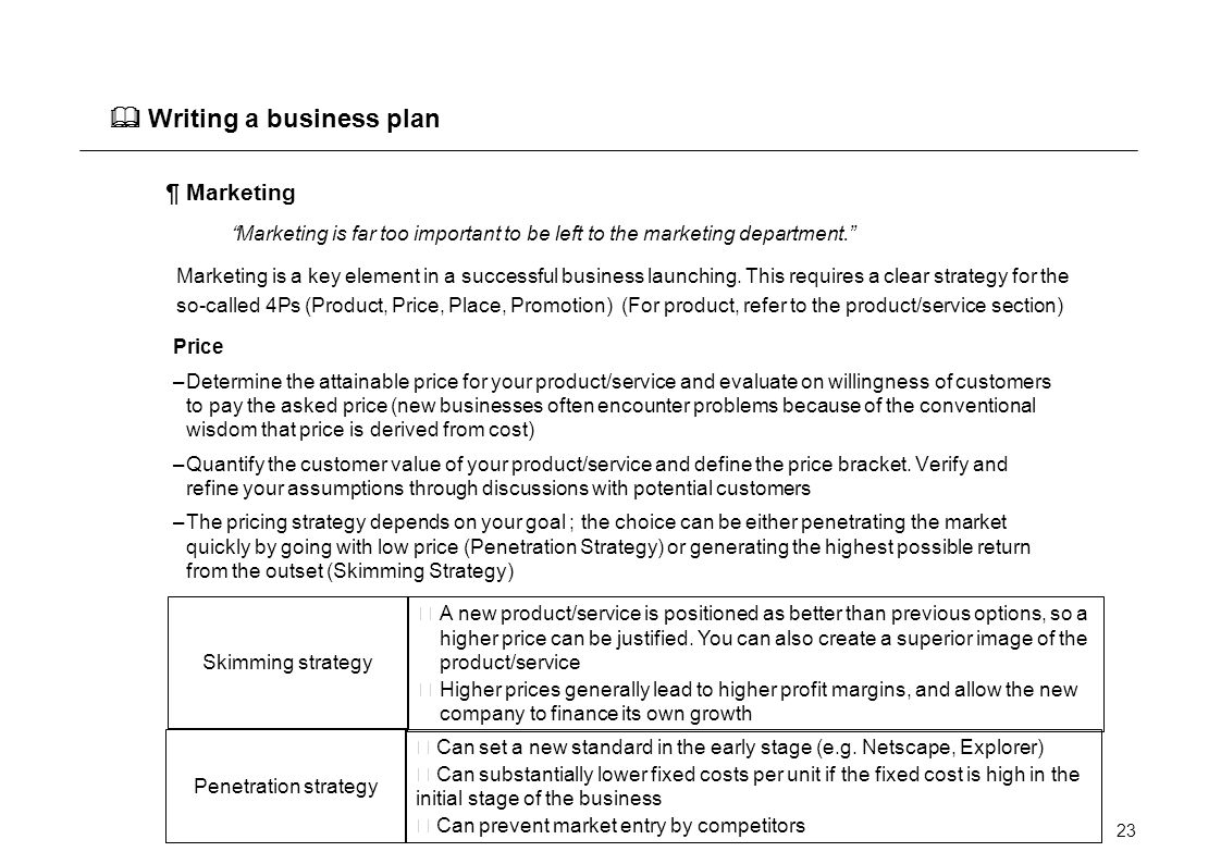 How to Write a One-Page Sales Business Plan