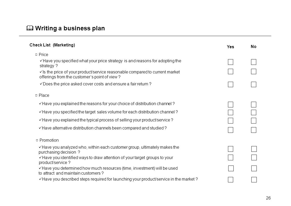 Help with writing a business plan