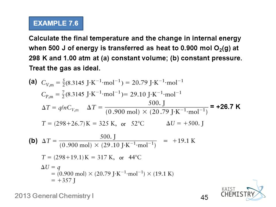 Chapter 7 Thermodynamics The First Law Ppt Video