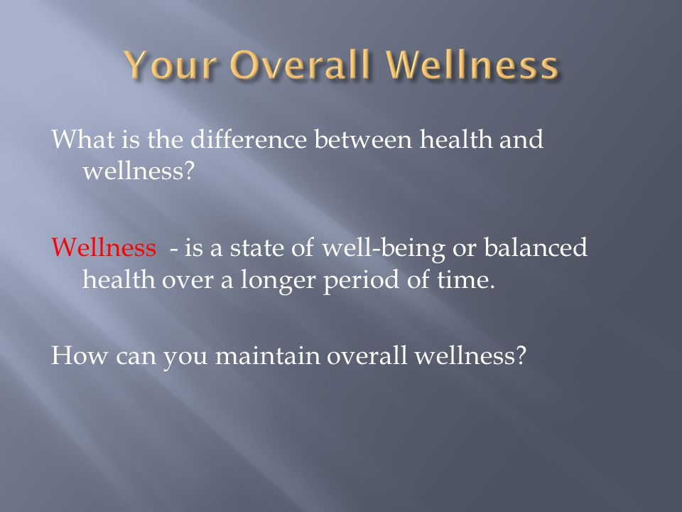 Your Overall Wellness