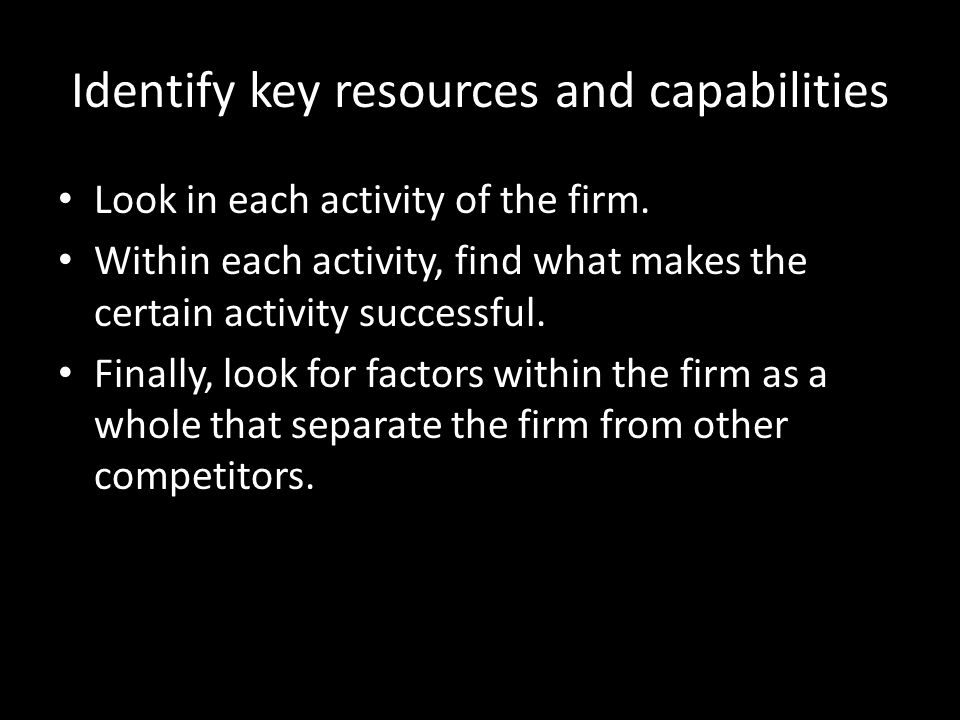key resources and capabilities of ebay Resources are the productive assets owned by the company, capabilities are what the firm can do well resources can be classified as three types tangible resources, intangible resources and human resources (grant, 2005, p 136-137.