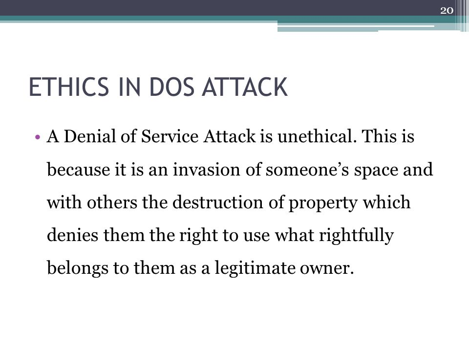 DENIAL OF SERVICE ATTACK - ppt video online download