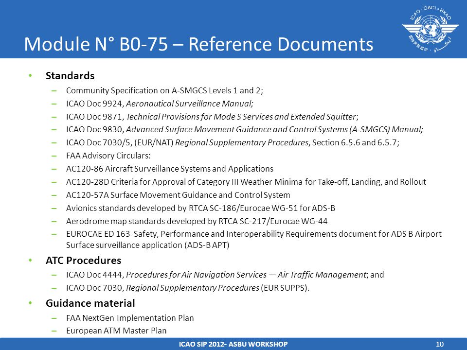 Module N° B0-75 – Reference Documents