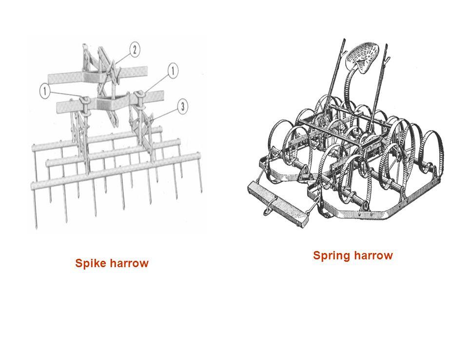 Spring harrow Spike harrow