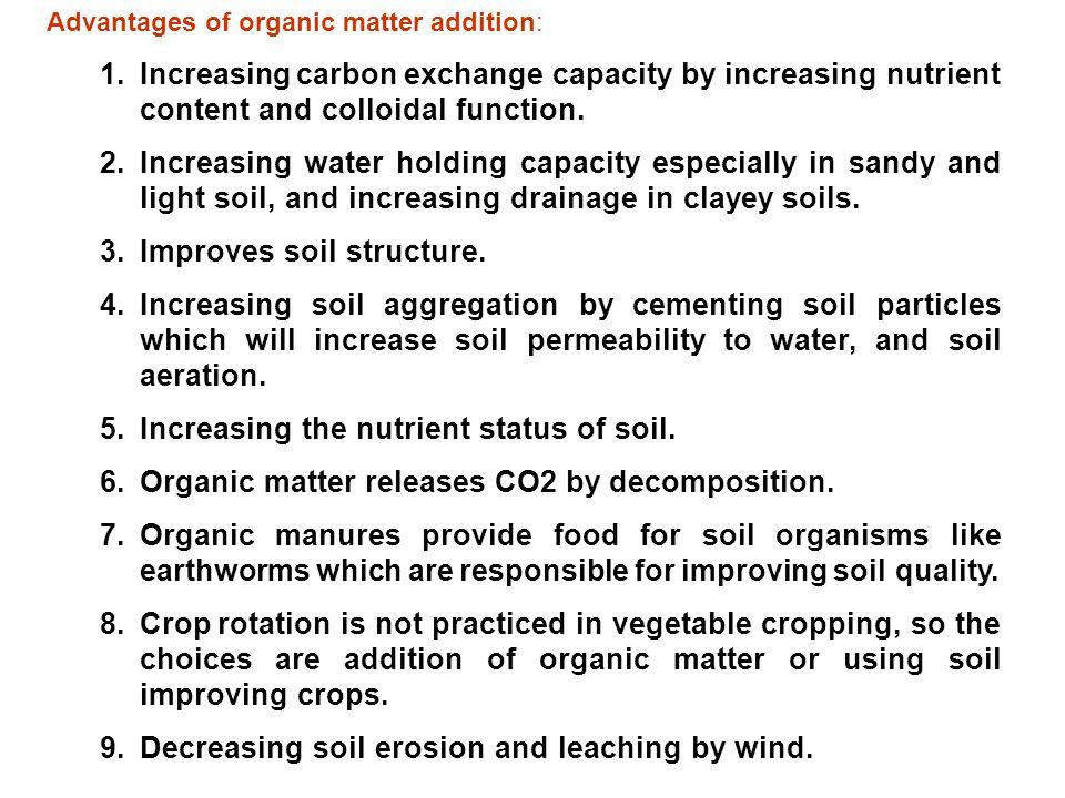 Improves soil structure.