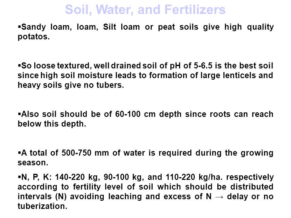 Soil, Water, and Fertilizers