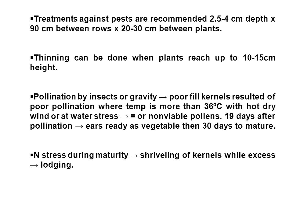 Treatments against pests are recommended 2