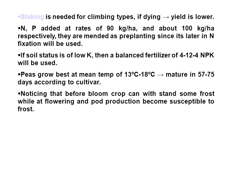 Staking is needed for climbing types, if dying → yield is lower.