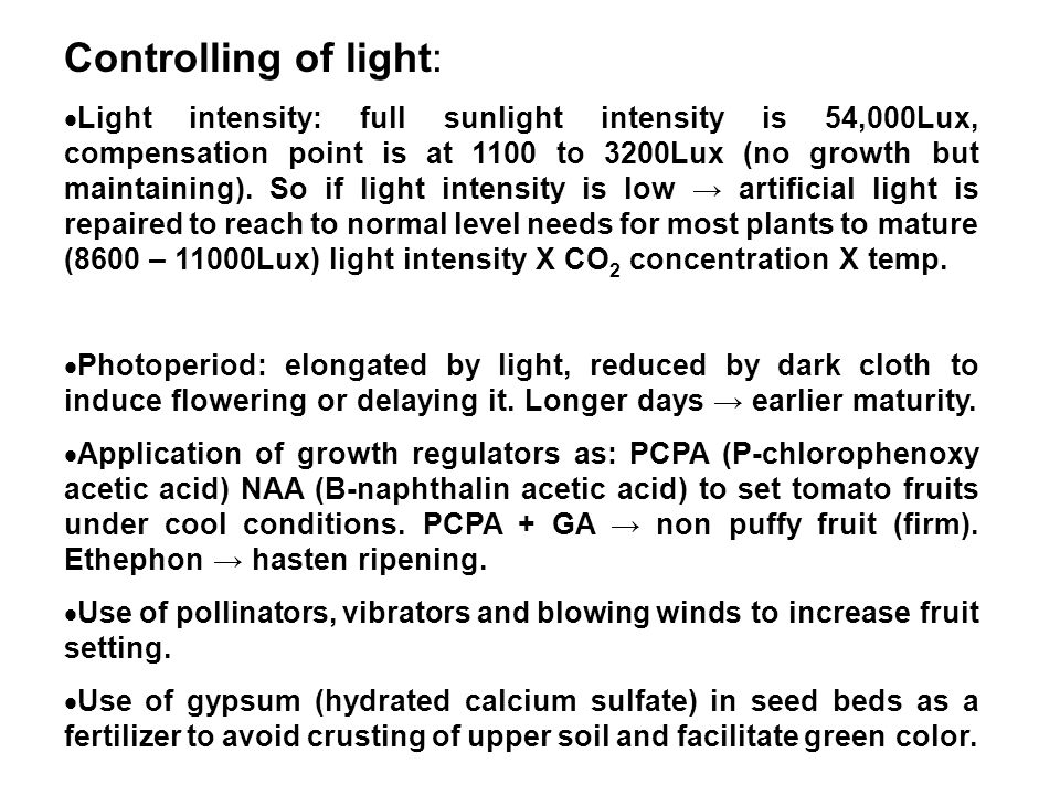 Controlling of light:
