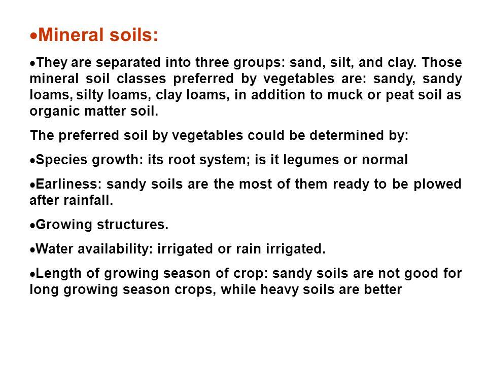 Mineral soils:
