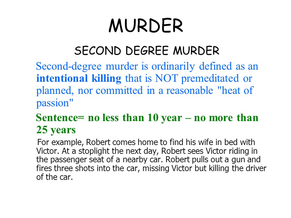 Evaluation Of Murder And Voluntary Manslaughter Term Paper Academic